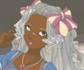 נערה עם שיער מפואר